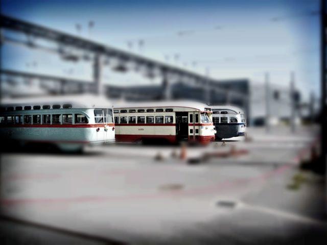 tilt-shifted trains
